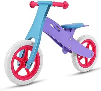 Bicicleta de equilibrio Costzon de madera sin pedal, 12 pulgadas ...