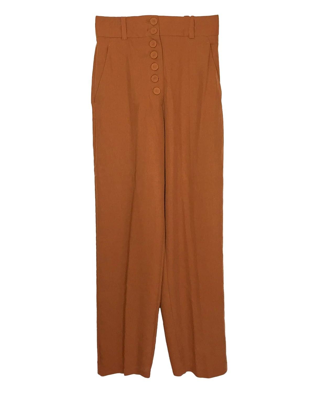 Mango Damen Buttoned Soft Fabric Trousers 41030847