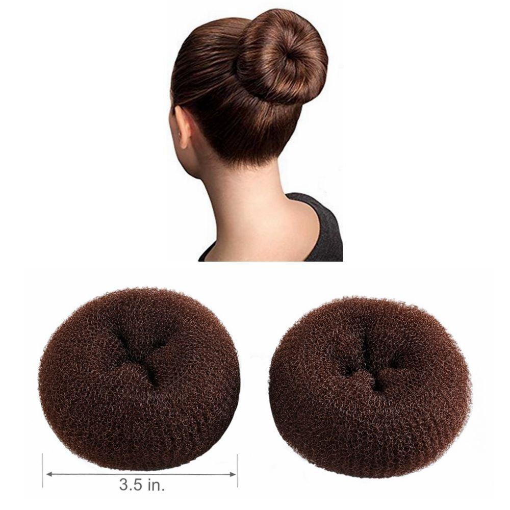 CLOTHOBEAUTY 2 pieces Large Size Hair Bun Donut Maker, Ring Style Bun, Women Chignon Hair Donut Buns Maker,Hair Doughnut Shaper Hair Bun maker (3.5 in. ) (Blonde) ltd