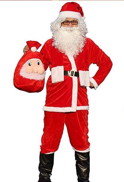 Traje de Papá Noel para Hombre, Papá Noel, 4 Piezas, Disfraz ...