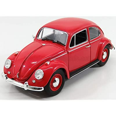 1967 Volkswagen Beetle Right Hand Drive Candy Apple Red 1/18 Diecast Model Car by Greenlight 13511: Toys & Games