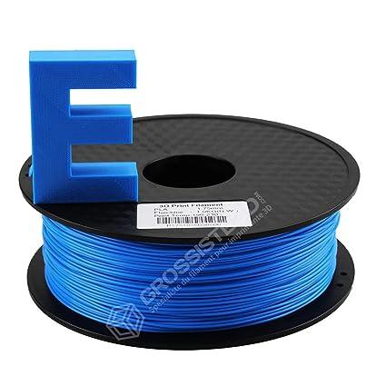 Filamento 3D de plástico, color azul fluorescente para impresora ...