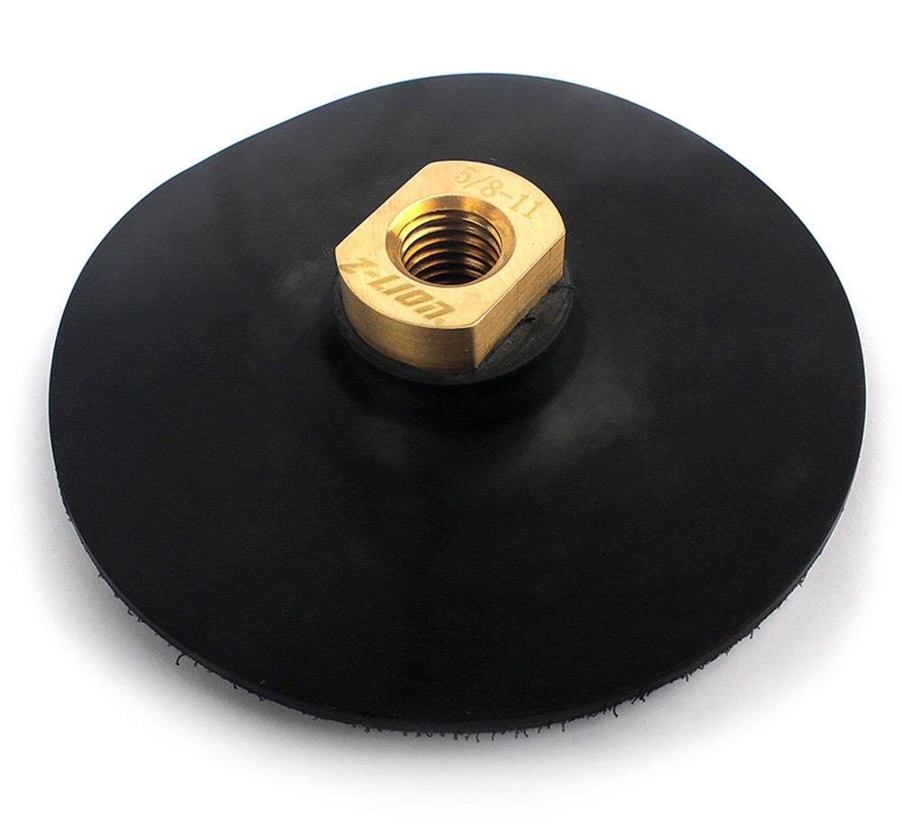 Flexible Rubber Backer Pad 5 inch Hook&Loop Back Holder 5/8-11 Thread by Z-LION