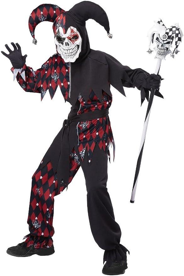Child Costume da sangue RAGGELANTE Jester Ragazzi Halloween Abito Outfit Nuovi