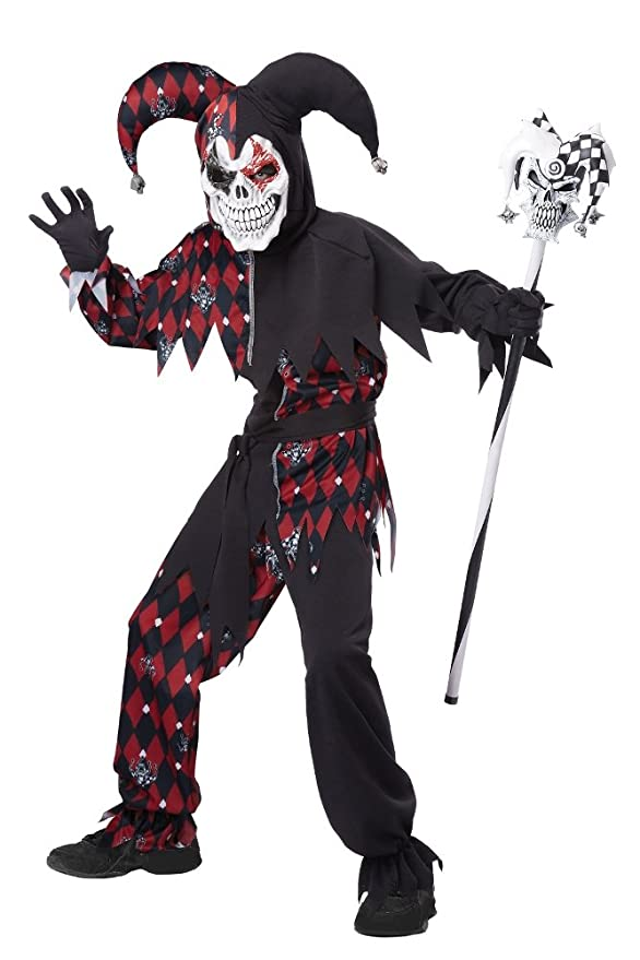 California Costumes Sinister Jester Costume, One Color, 8-10