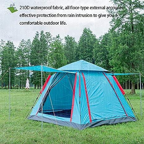 DLH Tienda De Campaña, Exterior 3-4 Personas - Tienda De Campaña De Velocidad Abierta - Engrosamiento Salvaje - Lluvia De Campamento,B: Amazon.es: Deportes y aire libre