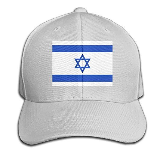 2a758f3bbb7 Amazon.com  HXXUAN Baseball Hats Israel Flag Snapback Sandwich Cap  Adjustable Peaked Trucker Cap  Clothing