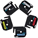 Anycolor 5 Pack 1/2 Inch M Tape Compatible Brother P-touch Label Tape Combo Set M131 M231 M431 M531 M631 for Brother P Touch Label Maker PT-90 PT-70BM PT-70 PT-M95 PT-65 PT- 85 PT-45