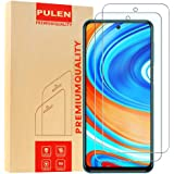 [2-Pack] PULEN Screen Protector for Xiaomi Redmi Note 9S/Note 9 Pro/Note 9 Pro Max,HD Clear Scratch Resistance Bubble Free 9H Hardness Tempered Glass