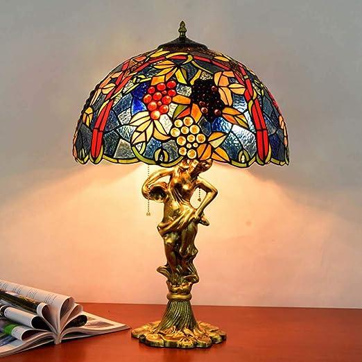 Lámpara De Mesa Estilo Tiffany, Lámpara De Vitral, UVA De Mesa ...