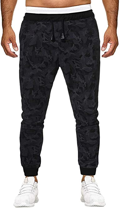 MXJEEIO Pantalones de Moda Camuflaje para Hombre Pitillo Slim Fit ...