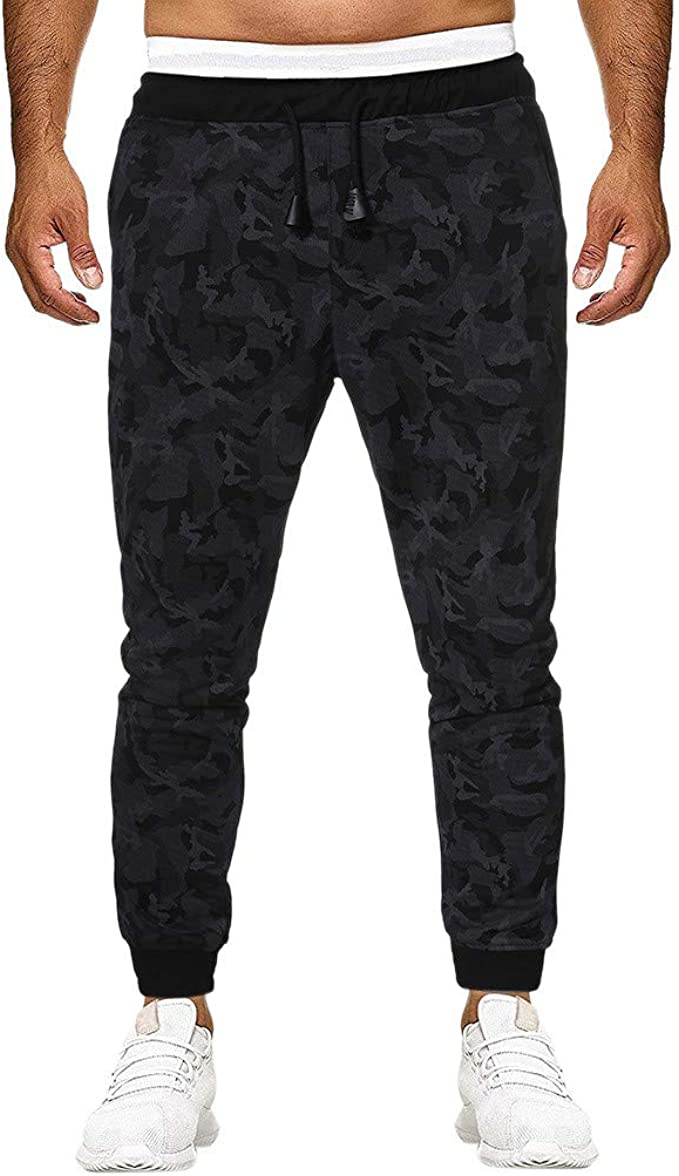 MXJEEIO Pantalones de Moda Camuflaje para Hombre Pitillo Slim ...