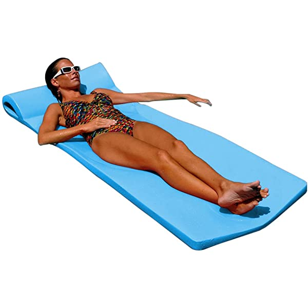 """Texas Recreation Ultimate Swimming Foam Pool Floating Mattress White 2.25/"""" Thick"""