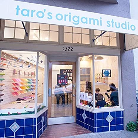 Taros Origami Studio Premium Japanese Origami Paper Standard 65 Made in Japan 6 inch, 65 Sheets, Single Side 18 Colors Including Gold and Silver