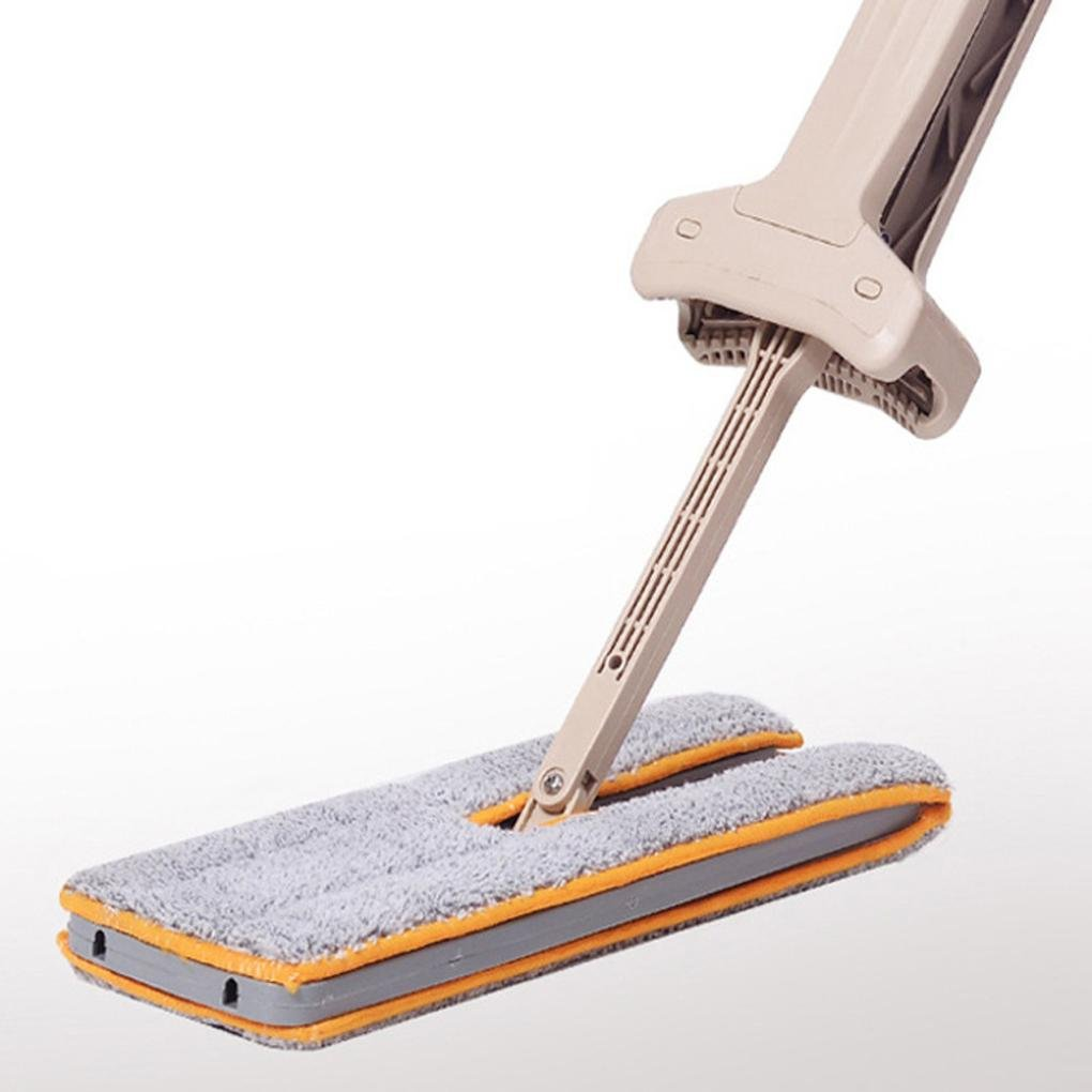 Vanvler Home Cleaning Tools, Double Sided Non Hand Washing Flat Mop Accessories Dust Push Mop Wooden Floor Mop (2 Pc Mop Cloth)