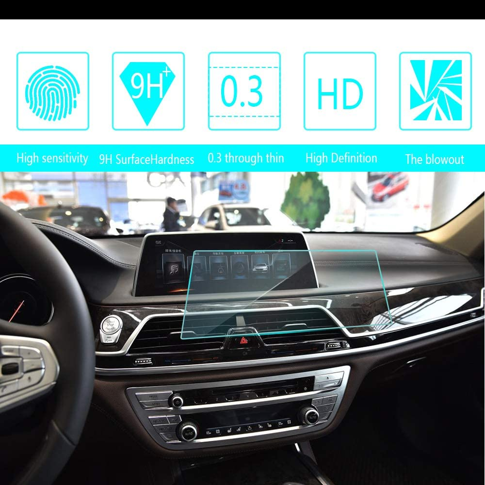 8X-SPEED for 2016 2017 2018 BMW 7-Series 750 740 730 Car Navigation Screen Protector HD Clarity 9H Tempered Glass Anti-Scratch, in-Dash Media Touch Screen GPS Display Protective Film