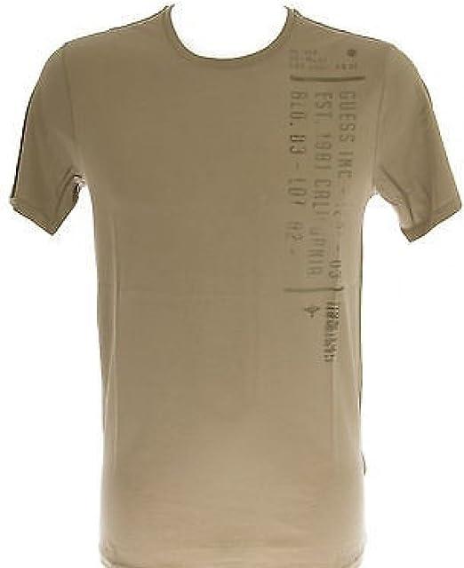 Camiseta camiseta hombre GUESS M51I05 t. s. c. G814 verde GRUNGE: Amazon.es: Ropa y accesorios
