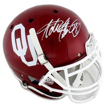 Amazon.com  Adrian Peterson Signed Oklahoma Sooners Schutt Full Size ... dfdb5ded6