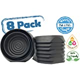 Bed Bug Interceptors Bed Bug Trap 8 Pack Black. Revolutionary Design ensures NO Talcum powder, Pesticides or additional products needed. Most RELIABLE Trap on the Market.