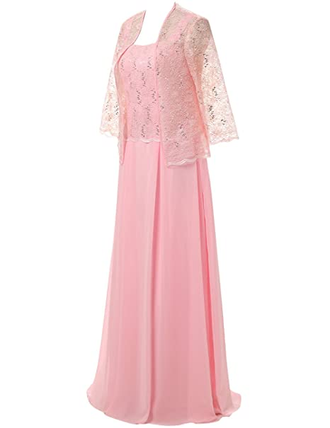 Cdress Chiffon Long Mother of The Bride Dresses Lace Jacket Evening Dress Maxi Prom Gowns at Amazon Womens Clothing store: