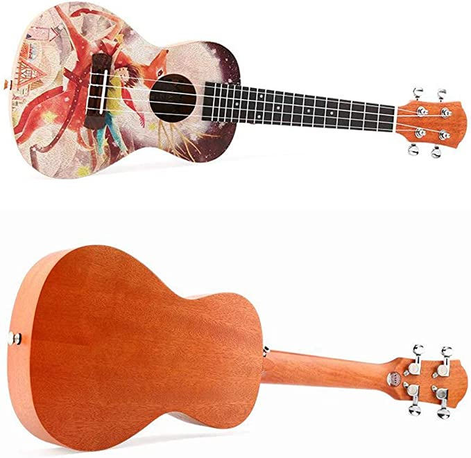 Ukulele 23 pulgadas de ukulele de concierto Pintura colorida Uke ...