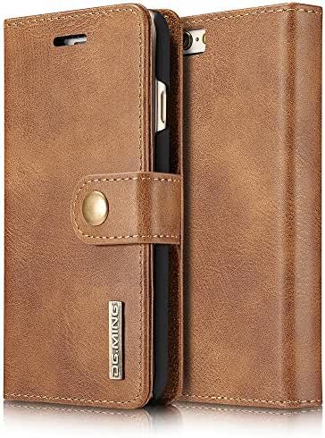 Leather Bifold Wallet Phone Case Magnetic Back Case Protective Flip Cover with Card Slots for Iphone/Samsung