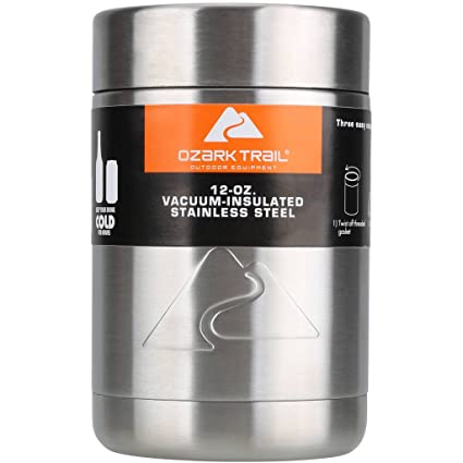 ec0dc723d39 Amazon.com: Ozark Trail 12 Ounce Double Wall Can Cooler Cup With Silver  Lid: Kitchen & Dining