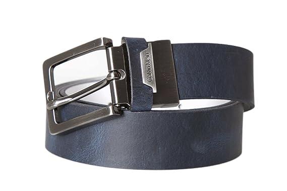 CALVIN KLEIN - Homme ceinture andrew reversible adjustable belt 105 bleu   Amazon.fr  Vêtements et accessoires 574a78d5e44