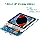 Arduino I2C OLED LCD Display Module Arduino LCD TFT Display,1.6 inch SPI LCD Screen,3.3V/5V 130x130 SSD1283A Driver, for Arduino D1 Mini