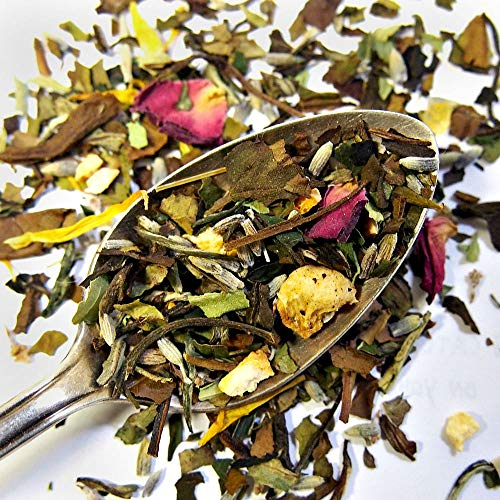 Plum Deluxe Lavender Daydream Relaxing Comforting White Tea (Mango/Peach/Floral) Organic Non-GMO Loose Leaf Premium Tea Made in the USA (45+ Cups from 3 Oz. ()