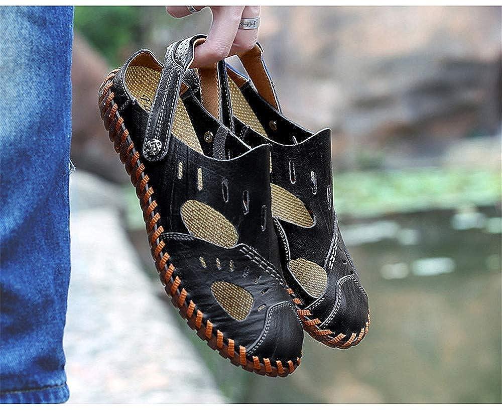 US Men Mens Leather Sandals Comfortable Soles Breathable Black,Lable 42//8 D M