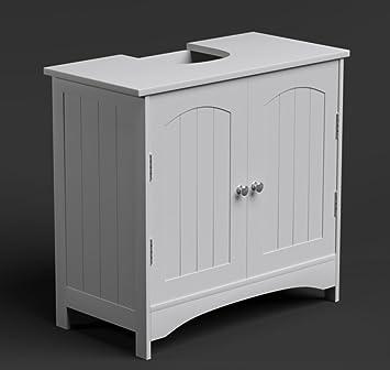 Unter Waschbecken/Waschtisch Schrank Badmöbel Pantry Stauraum Modern Weiß  Holz Boden Stehend Schrank Richmond Serie
