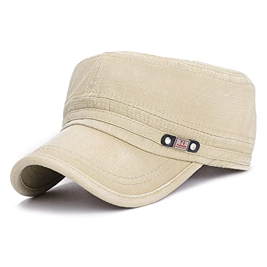 Clothes, Shoes & Accessories Military Hats for Men UK Mens Army Hat Sunshade Military Mesh Back Cadet Outdoors Baseball Flat Cap