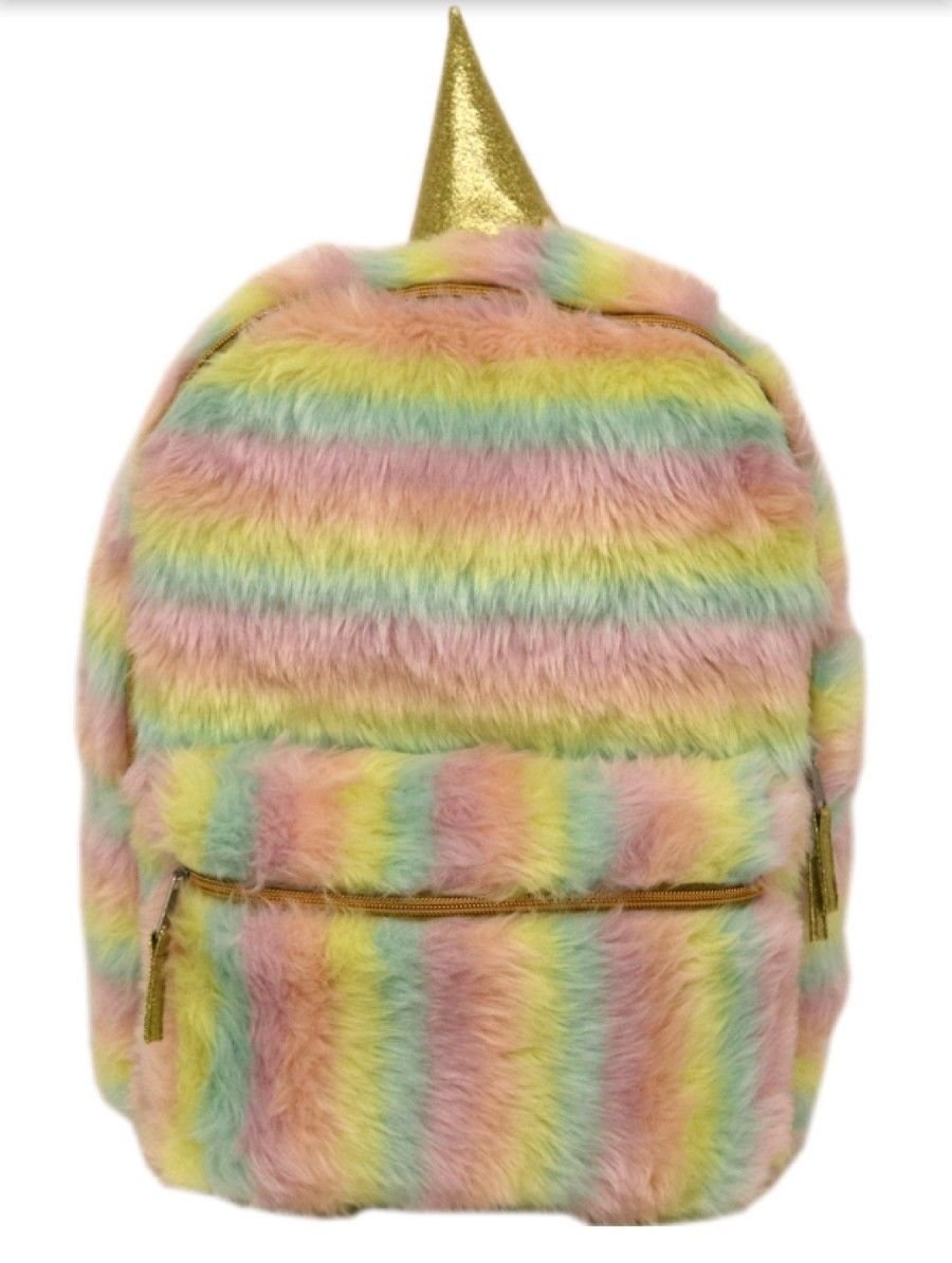 Plush Magical Unicorn Bagpack 16'' by Queen of the catle