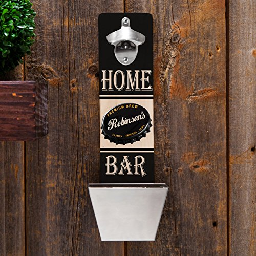 Personalized Wall Mounted Bottle Opener and Cap Catcher Review