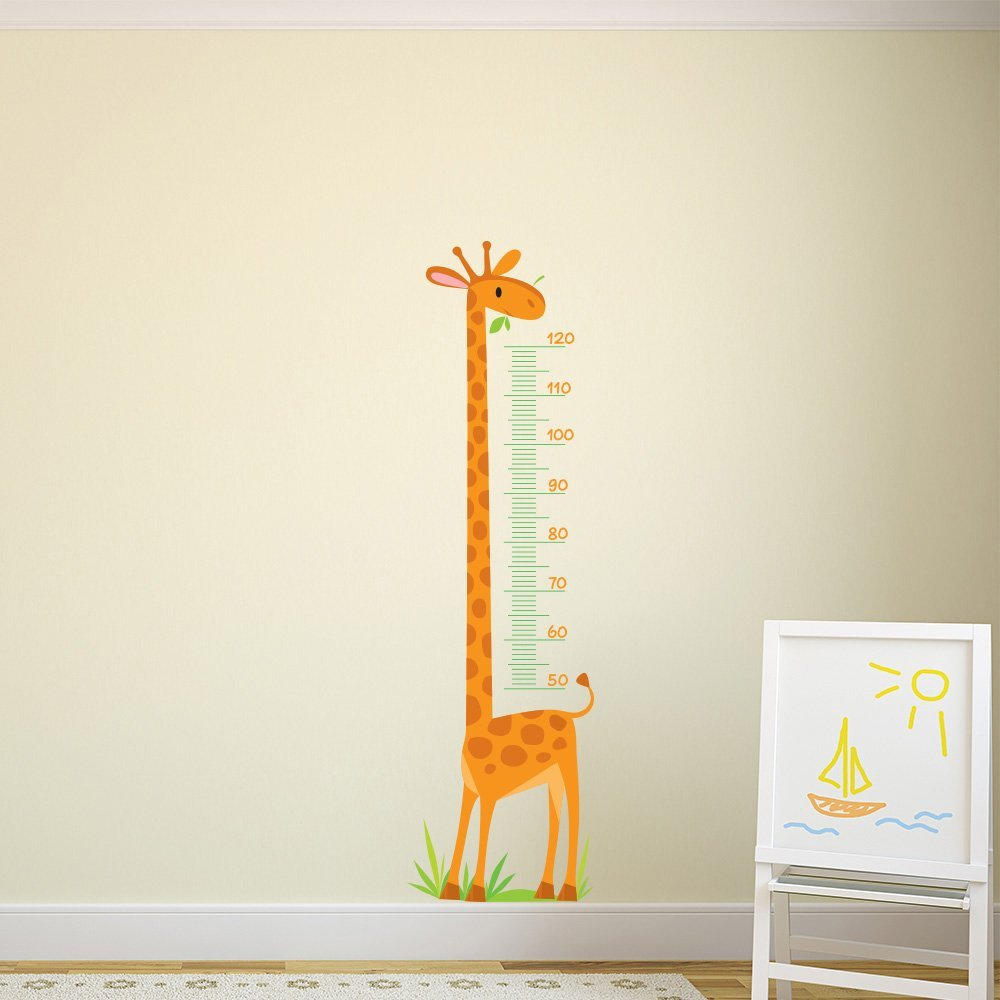 Giraffe Height Chart kids Cartoon color Wall Stickers Bedroom Art Decals available in 8 Sizes Gigantic Digital