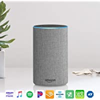 Echo (2nd Generation) - Smart speaker with Alexa and Dolby processing  - Heather Gray Fabric