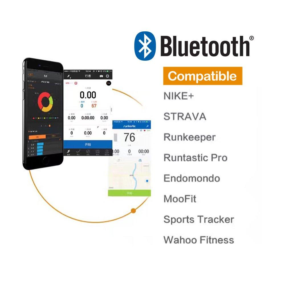 magene mhr10 modo Dual Ant + y Bluetooth 4.0 Sensor de ritmo cardíaco con correa para el pecho