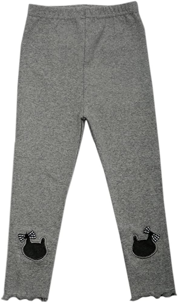 TG2627 Girls Cotton Trousers Spring /& Autumn Pants Warm and Soft Gray