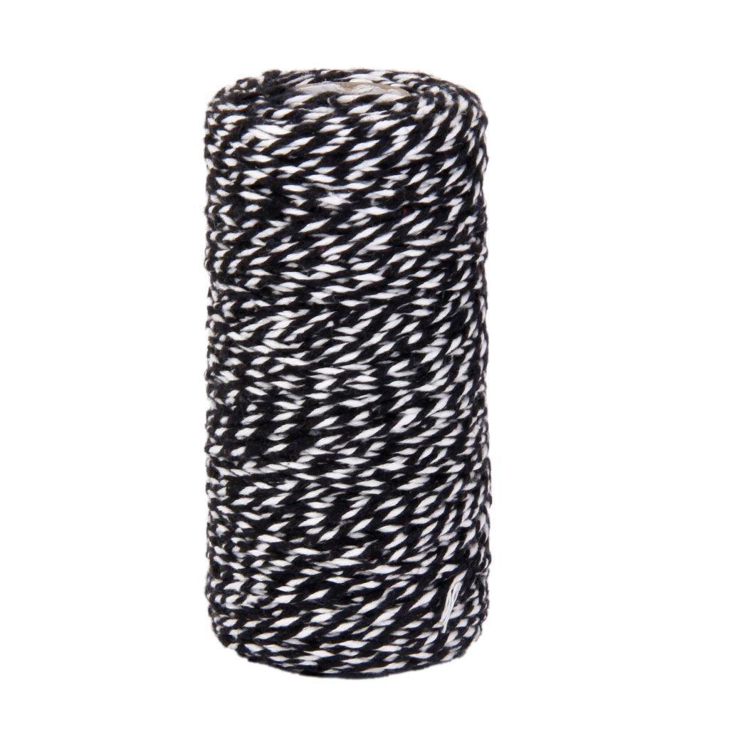 Grifri 100M Wrap Geschenk Baumwolle Seil Band Schnur Seil Schnur String schwarz