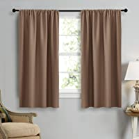 """NICETOWN Thermal Insulated Rod Pocket Blackout Curtains, 2 Pieces, 42"""" X 63"""" / 42"""" X 84"""" (106 X 160CM / 106 X 213CM)"""