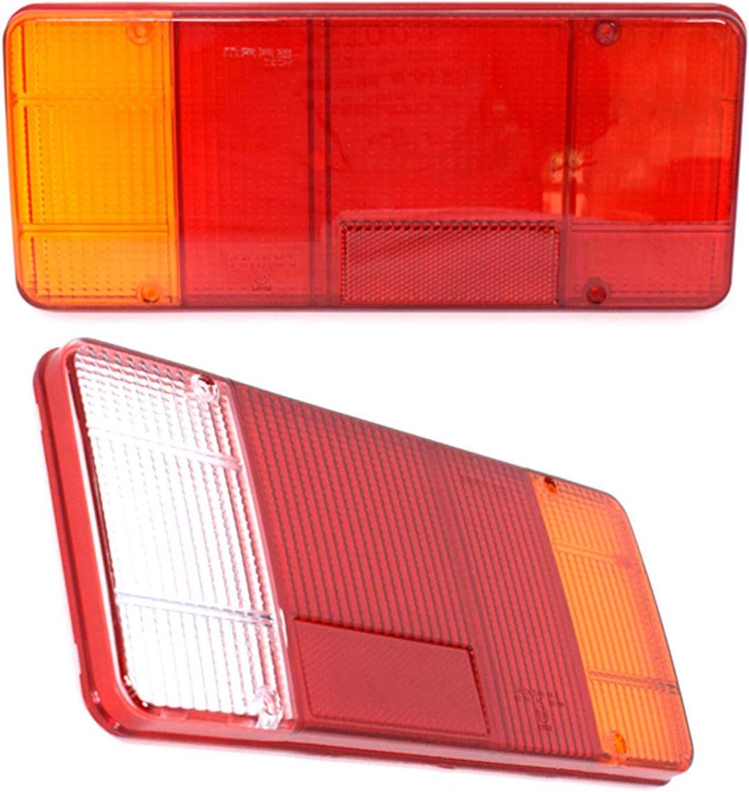 2 Stücke Lichtscheibe Glas Ersatzglas Rückleuchten Rücklichtglas Lkw Pkw Anhänger Heckleuchte Auto