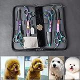 4PCS 7'' Professional Plated Sharp Edge PET DOG Grooming Hair Scissors Shears Kit
