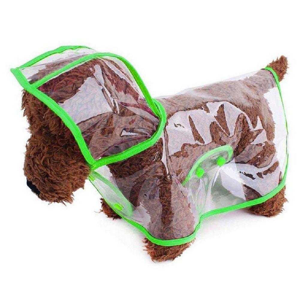 Ducomi dogalize–Imperméable avec capuche en nylon transparent pour chien–Manteau poncho pluie modèle pour chiens