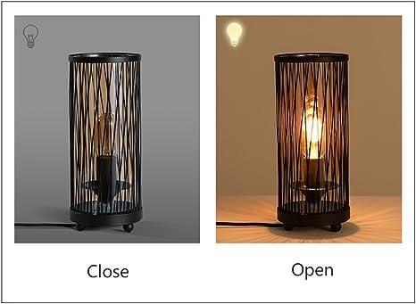 Hsyile KU300119 Retro Industrial Table Lamp Creative Bedroom Bedside Lamp Bar
