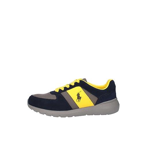 Ralph Lauren CORDELL Sneakers Hombre BLUE/YELLOW 41: Amazon.es ...