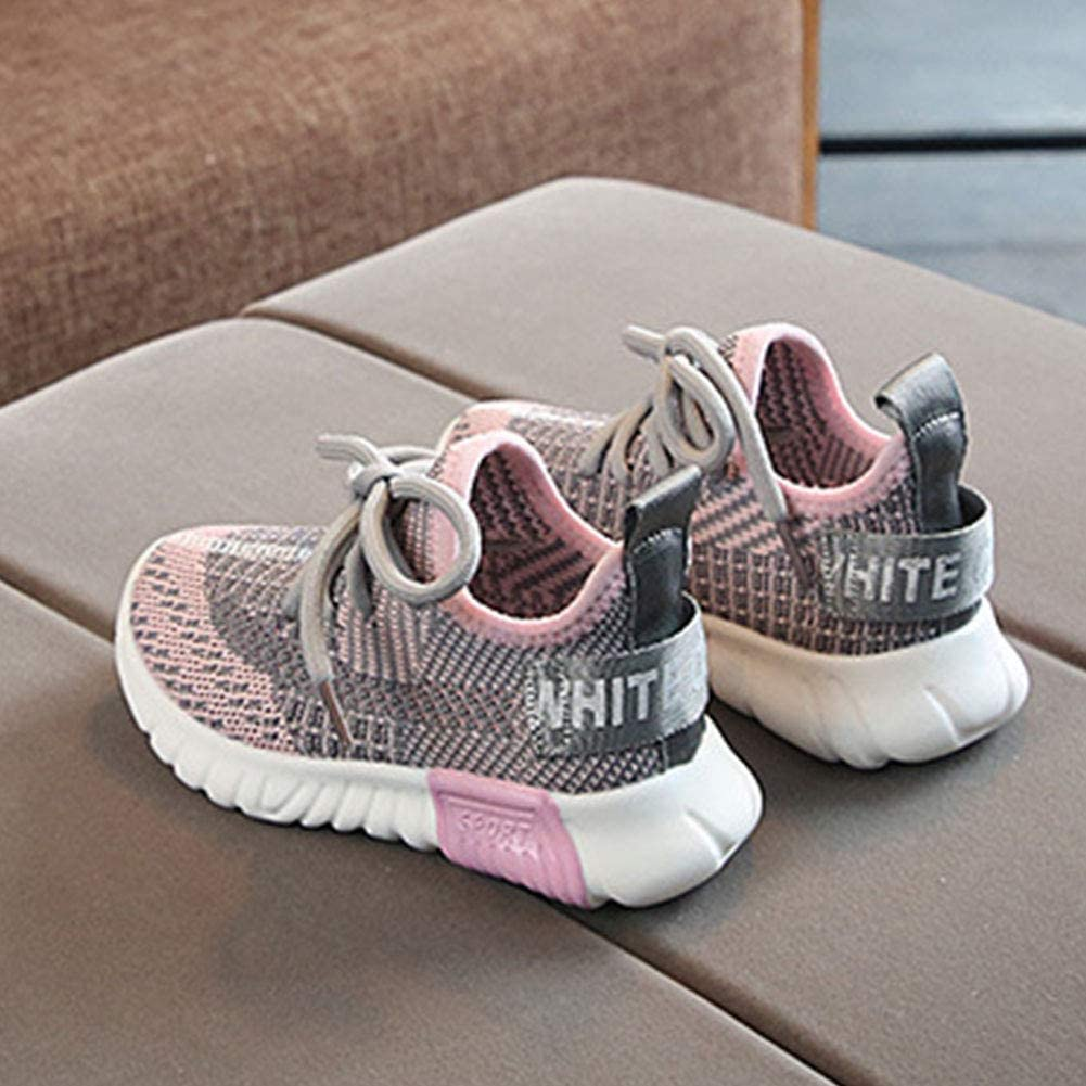 Daclay Kids Fashion Sneakers Boys Girls Breathable Mesh Flat Running Shoes