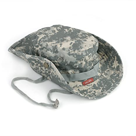 04687b0e8b5 Image Unavailable. Pellor Boonie Bucket Hat Military Fishing Camping  Hunting Wide Brim Bucket Men Outdoor Sun-Shading