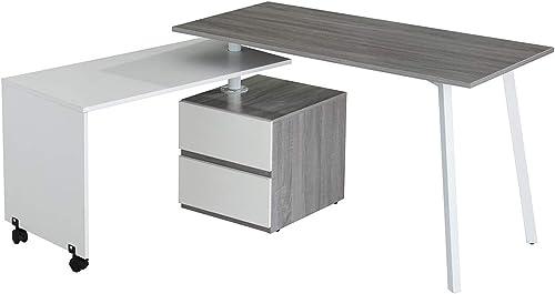 Reviewed: Techni Mobili Rotating Multi-Positional Modern Desk Color: Gray