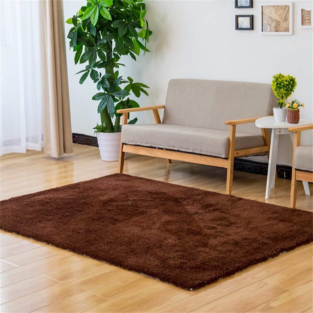 ヨーロッパの現代カーペット、リビングルーム寝室オフィスコーヒーテーブルコンピュータチェアベッドサイドカーペットタイルマット、75センチ用クリエイティブブラウンスクエア手織りソフトウェアラブル AI LI WEI (サイズ さいず : 140*200cm) 140*200cm  B07RD693XY